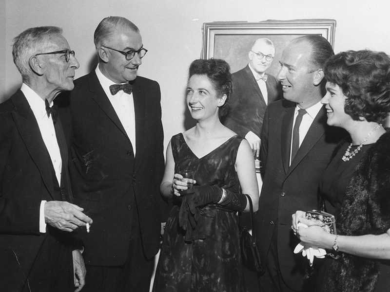Frank Hutchens, Composer; Harold Lobb MBE, Director; Dorothy McCormack; Thomas Naisby and Evanne Shepherd, Newcastle Conservatorium of Music 1963