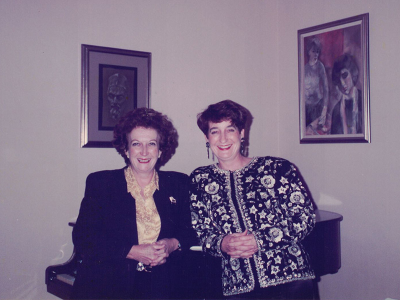 Dorothy McCormack with Mary Lopez A.M.