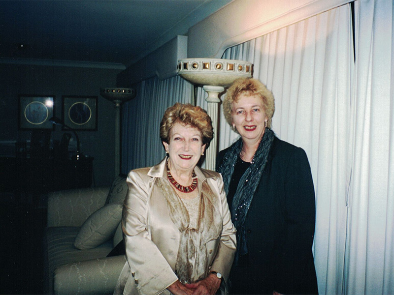 Dorothy McCormack with Dr Anne Power